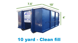 10 yard clean fill bin