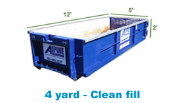 4 yard clean fill bin